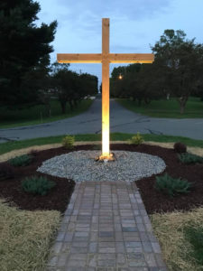 Cross at entry of East Stroudsburg Presbyterian