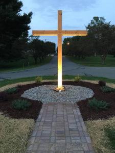 Cross at entry of East Stroudsburg Presbyterian